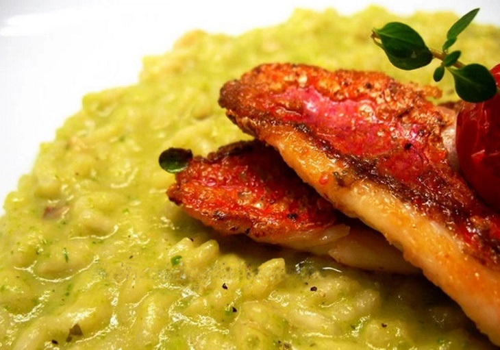 risotto-with-red-mullet-and-zucchini-cream